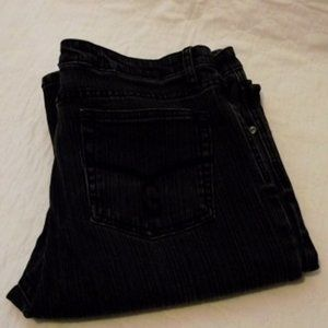 GASOLINE Jeans Womens, Size 12, blackwash